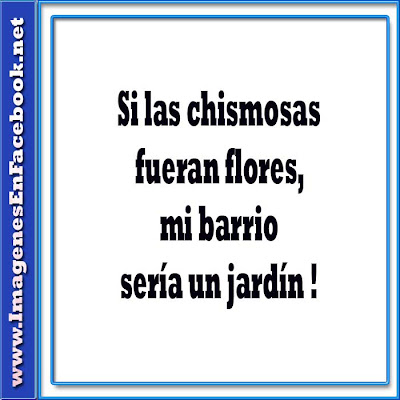 carteles para fb imagenesenfacebook.net 306 Si las chismosas fueran flores  (Facebook Imagenes)
