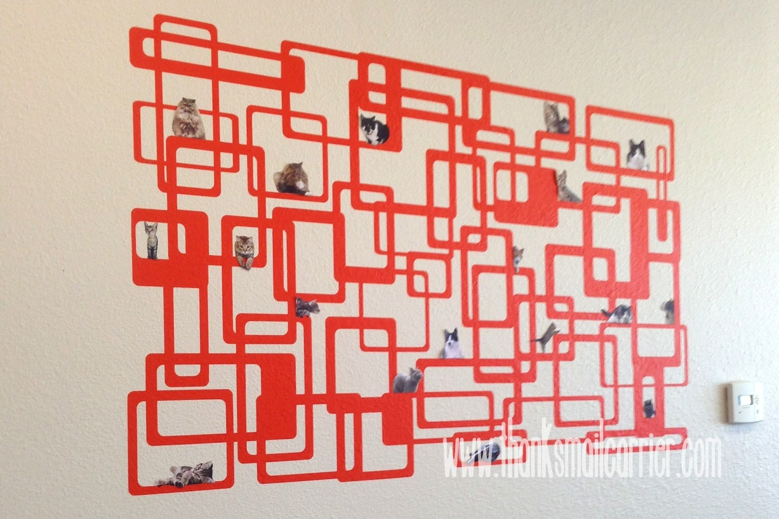 modern cat wall art