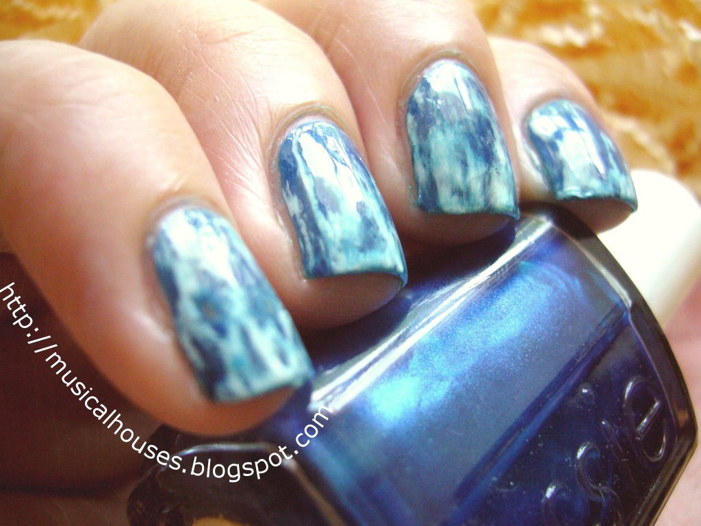 Acid Wash Jeans Nail Art Of Faces And Fingers