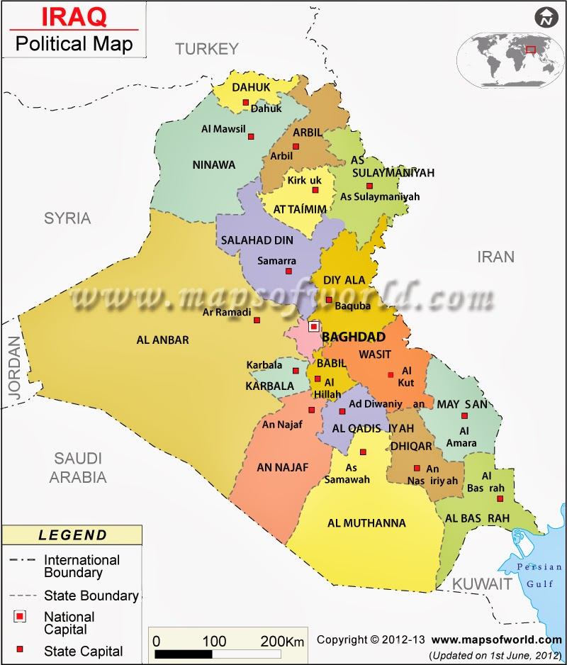 Map Of The Week New Provinces In Iraq - Iraq map