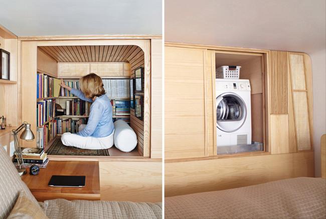 Marzua un apartamento min sculo llenos de rincones secretos - Armario para lavadora ...