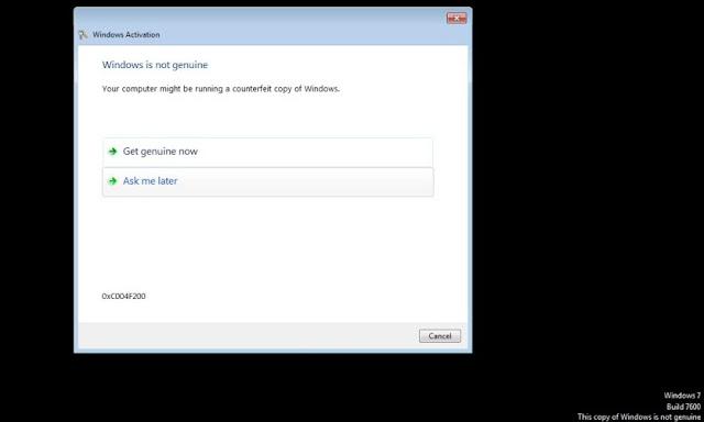 Windows 7 Blocked, Khắc phục - sửa lỗi màn hình đen trong Windows 7 thành công