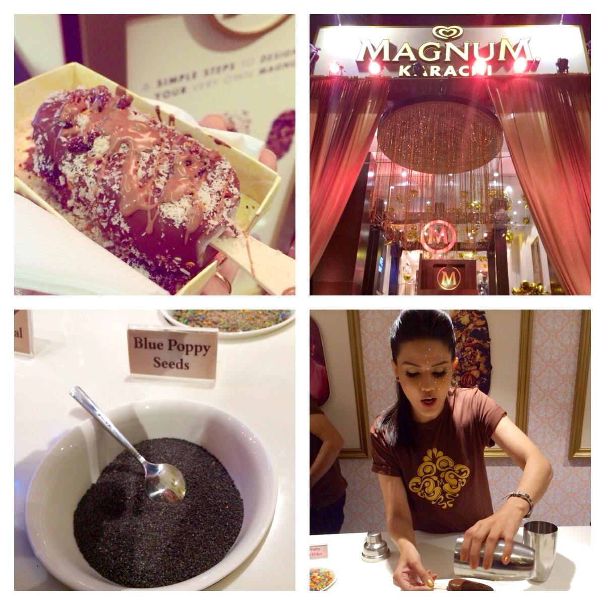 Collage from Magnum Store Karachi Launch