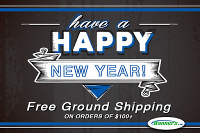 Free Ground Shipping through 1/4/16 at Banners.com