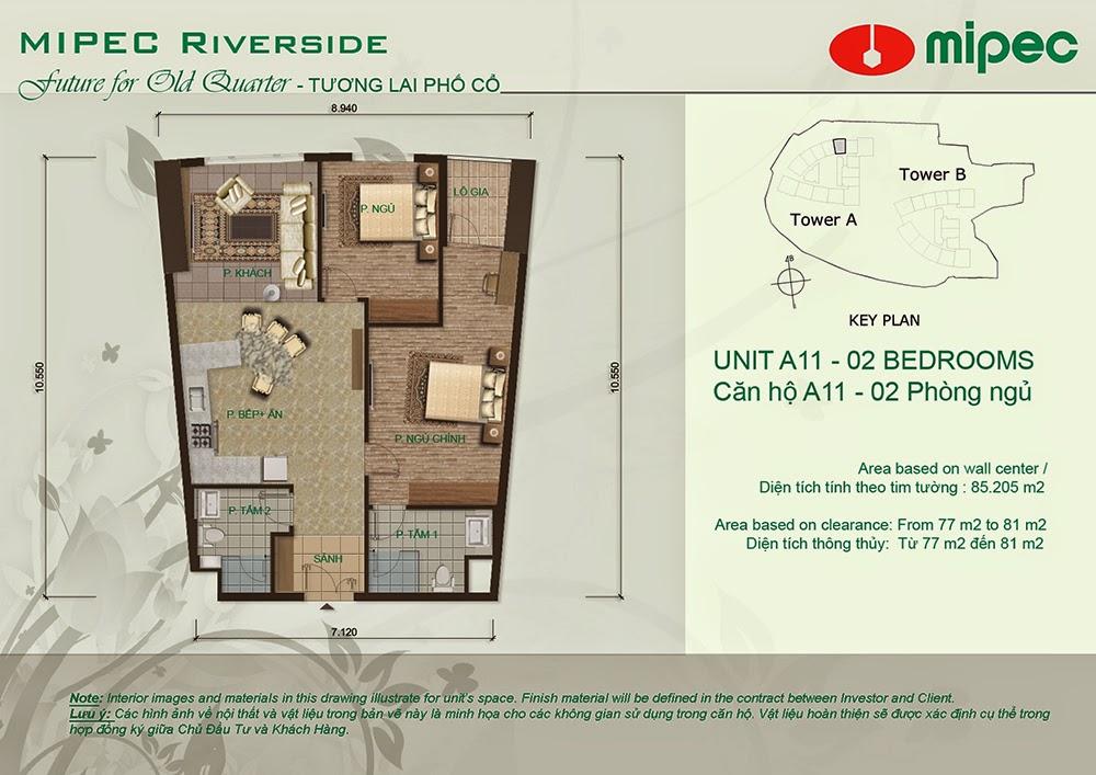 Căn A11 cư xá Mipec Riverside