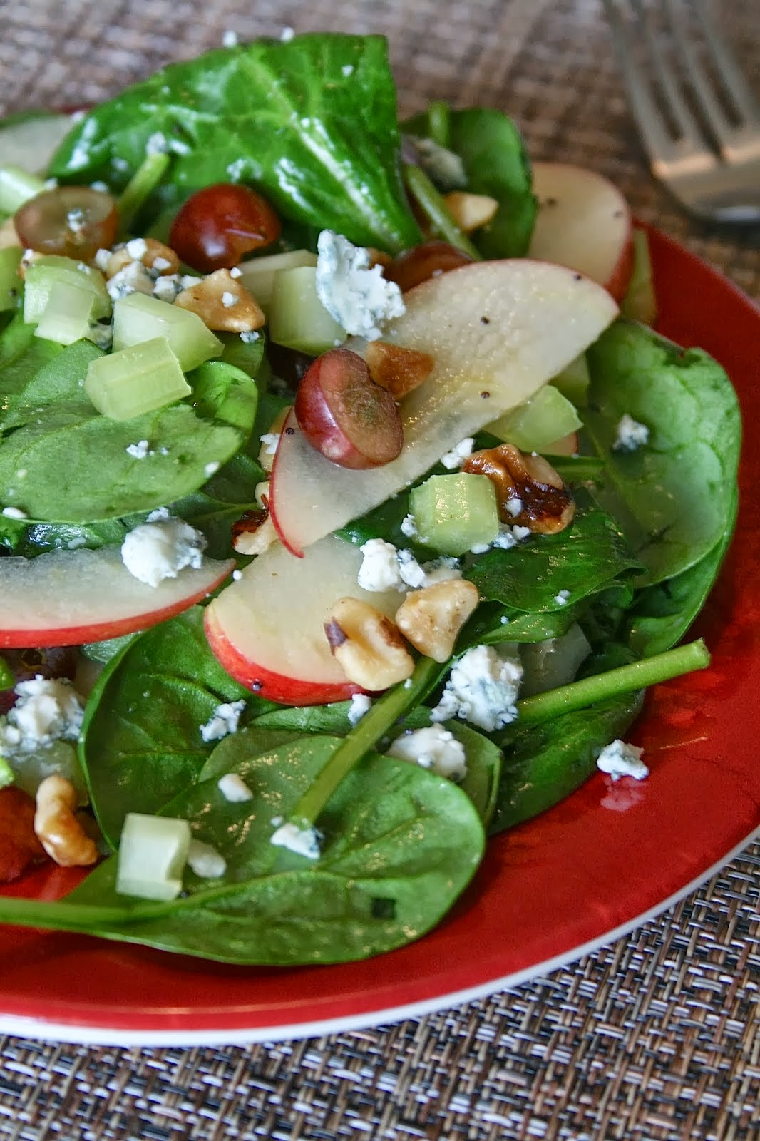 Apple Walnut Salad with Poppyseed Dressing