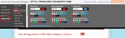 Cara Merubah Warna Link Pada Blog