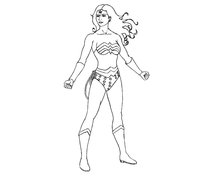 Printable Wonder Woman 8 Coloring Page title=