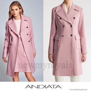 Crown Princess Mary wore ANDIATA Coat and Skirt