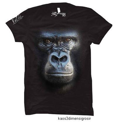 kaos 3d gorilla