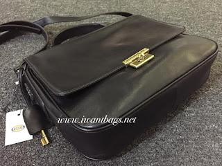 Fossil Memoir Flap Bag-Black
