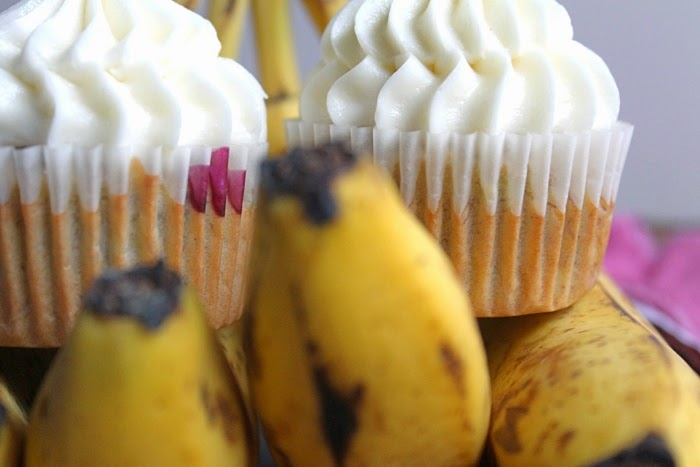 Banana Blueberry Cupcakes