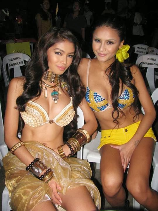 linda persson and red de la cruz at fhm 100 sexiest victory party 2013