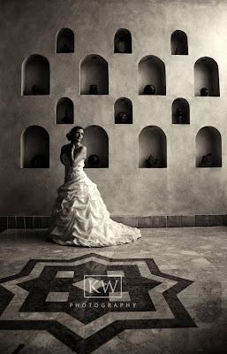 Contemporary wedding photograph