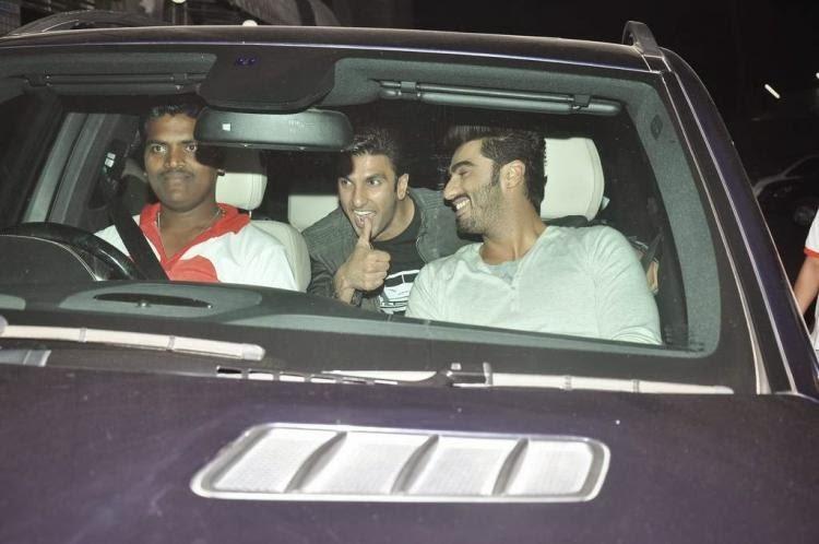 Ranveer Singh and Arjun Kapoor visit Chandan theatre