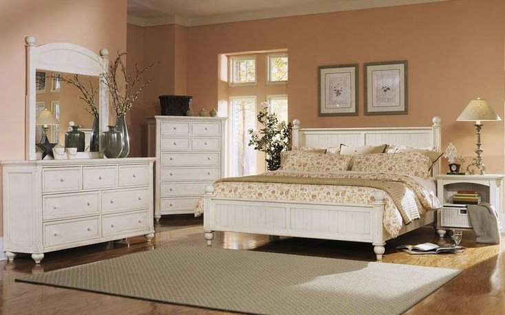 Color Schemes for Bedrooms with White Furniture