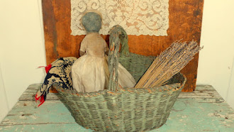 Early Basket Green Painted all original