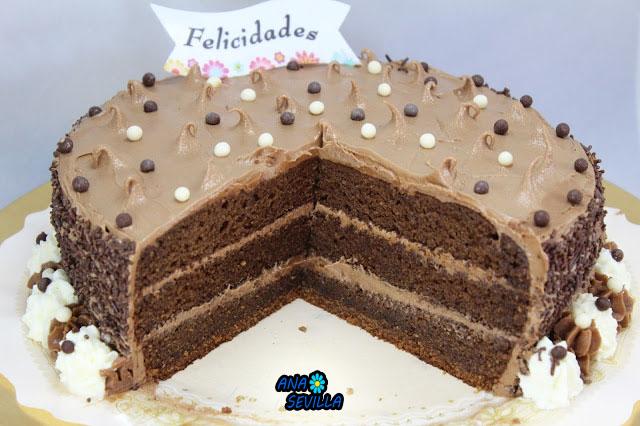 Tarta de buttercream de nutella Ana Sevilla Cocina tradicional