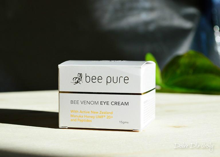 Bee Pure Bee Venom Eye Cream Krem pod oczy z jadem pszczelim z miodem manuka UMF20+ i peptydami