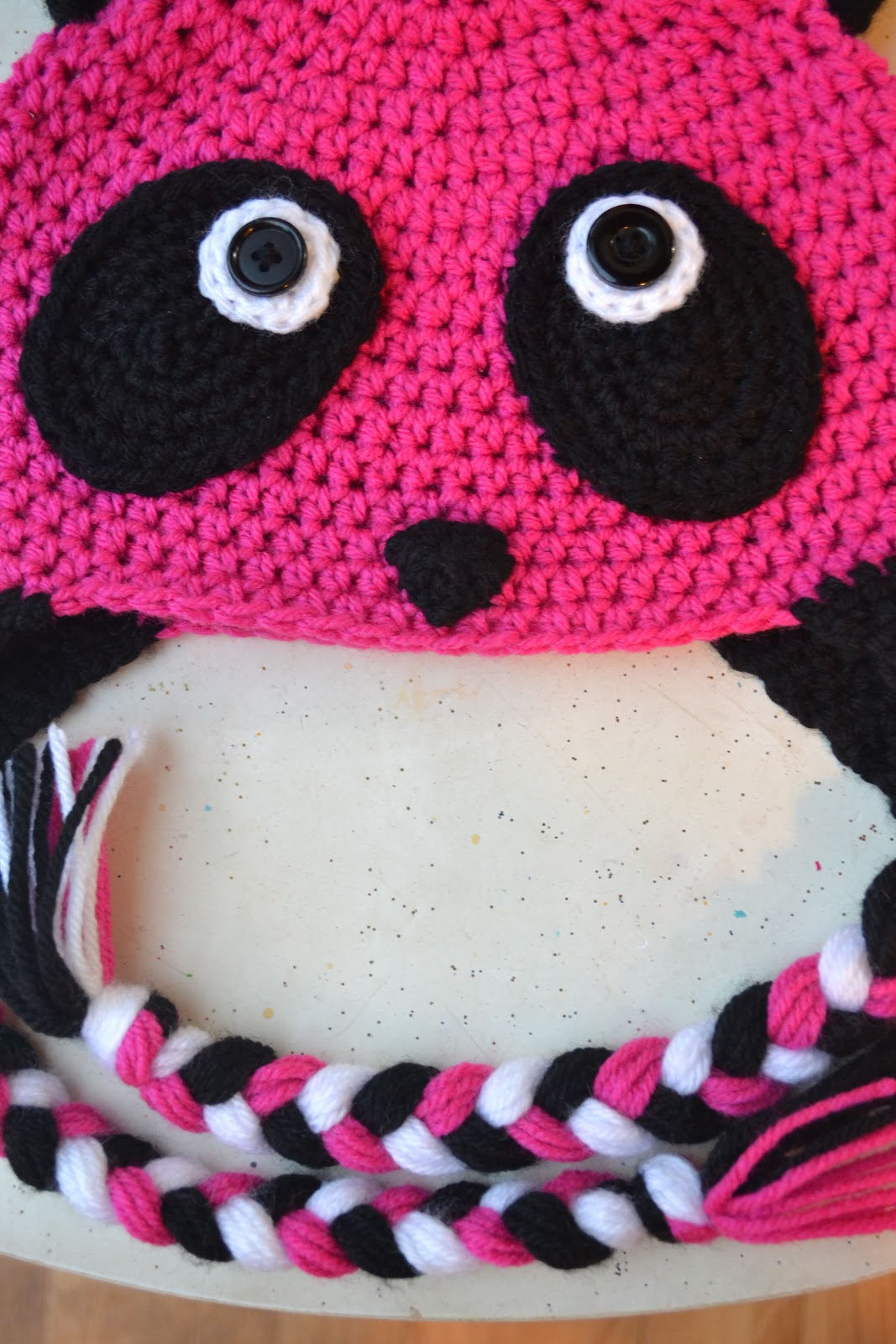 Crochet Pattern Panda Hat : Crochet in Color: The Pink Panda
