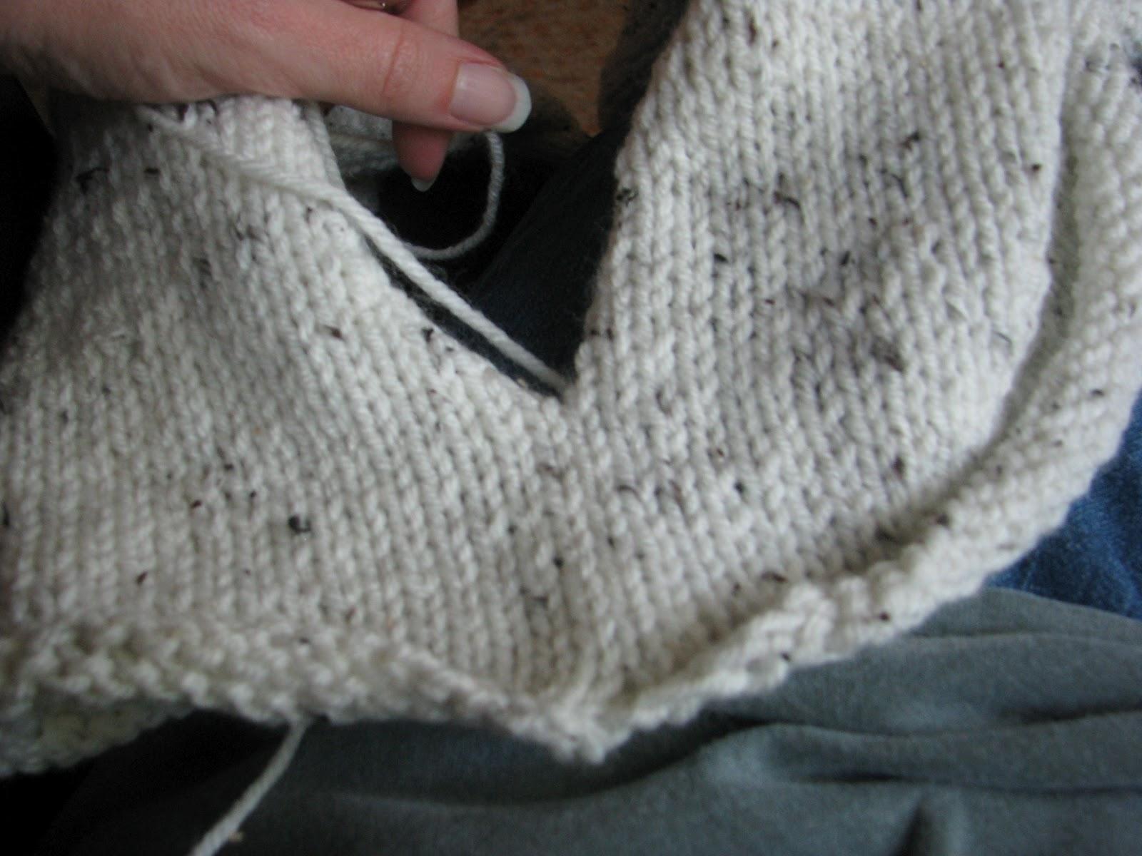 Knitting Stitches Joining Seams : Three Strands Together: Seaming the Mary Maxim Aran Tweed Kimono