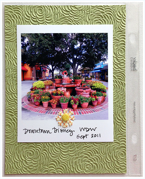 Downtown Disney flowers, Project Life - Disney inspired memory keeping | www.anyhappylittlethoughts.com