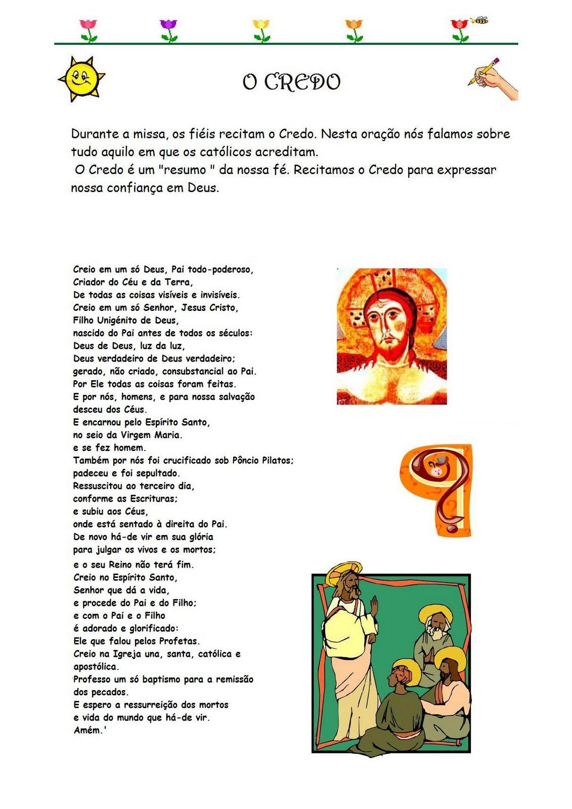Well-known Catequese com Carinho: Oração do Credo ilustrada SC92