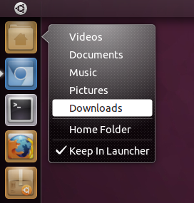 Ubuntu 11.04 Natty Narwhal Launcher Quicklists