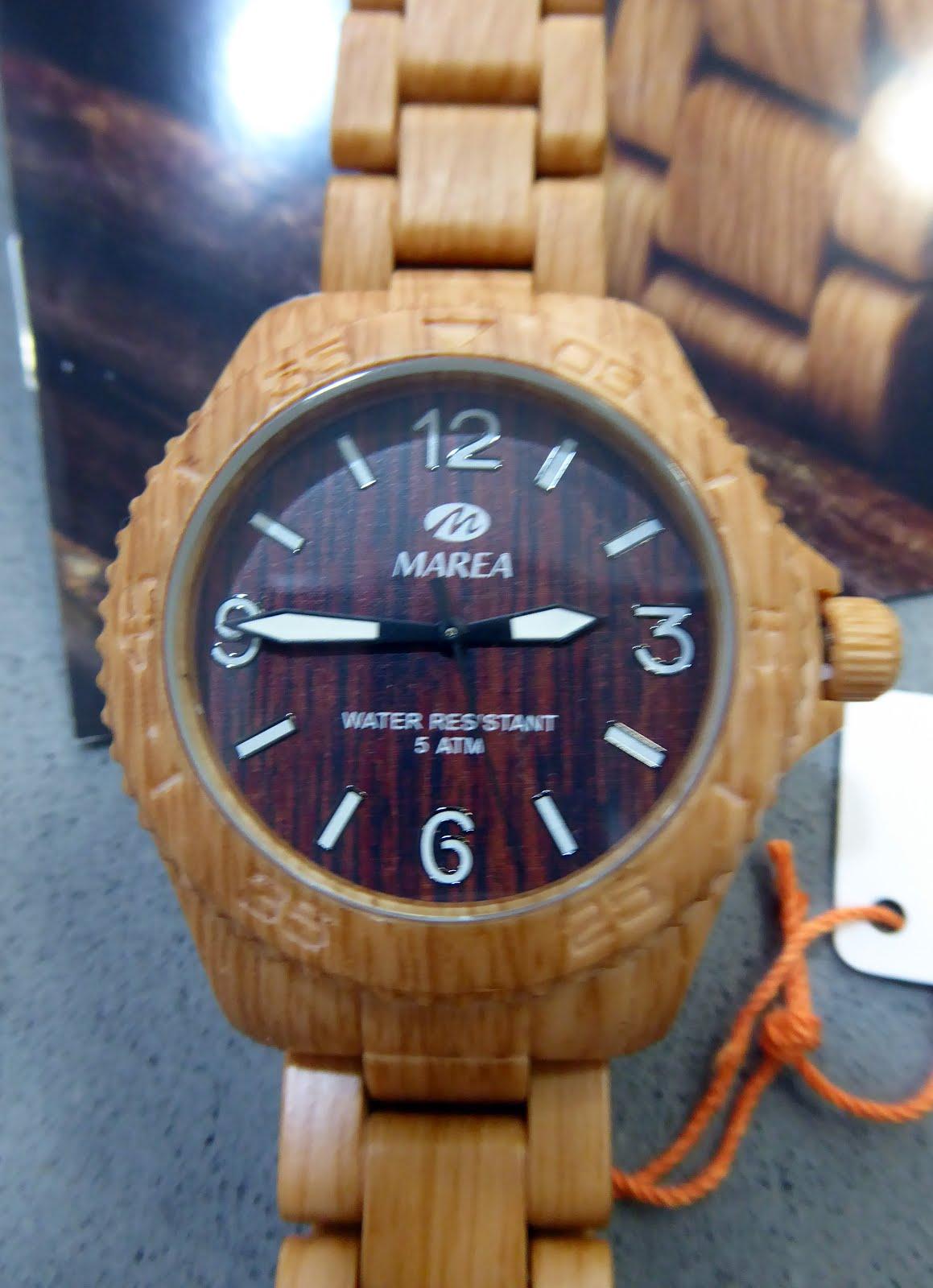 Reloj Marea imitación madera
