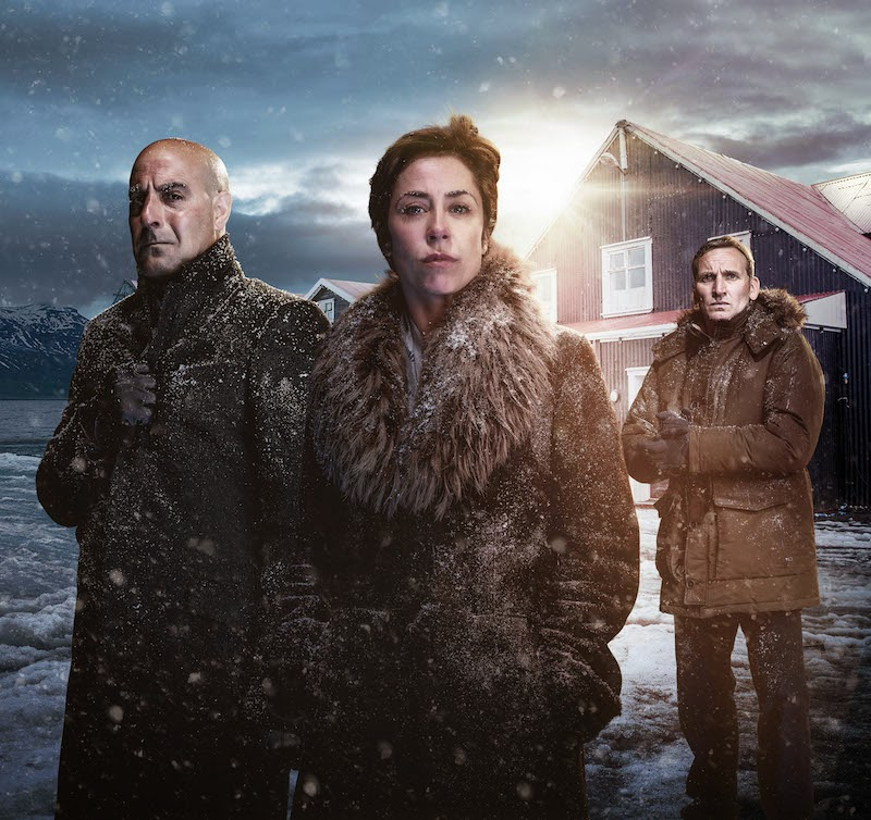Stanley Tucci as DCI Eugene Morton; Sophie Grabol as Hildur Odegard; Christopher Eccleston as Professor Charlie Stoddart in fortitude