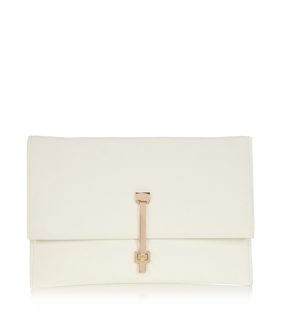 white envelop clutch bag
