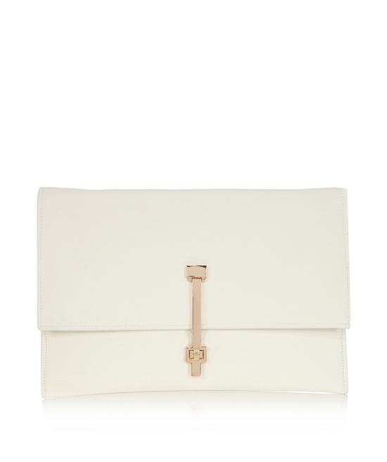 white envelop clutch bag