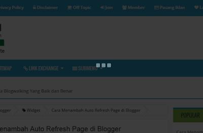 Membuat Efek Animasi Preloading Blog di Blogger