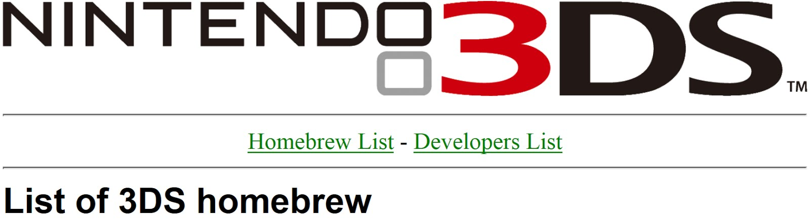 The Ultimate 3DS Homebrew Database (HBDB for short)
