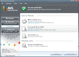 AVG Antivirus Pro 2012 Terbaru Full Version + Key Serial