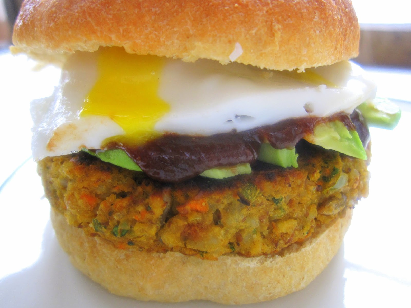 Chickpea-Brown Rice Veggie Burger Recipe — Dishmaps