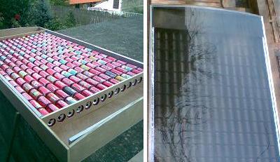 Calefactor solar casera por aire