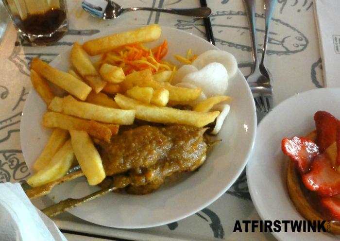 V&D prijzencircus voordeelmenu: Maleisische kipsaté (Malaysian chicken satay)