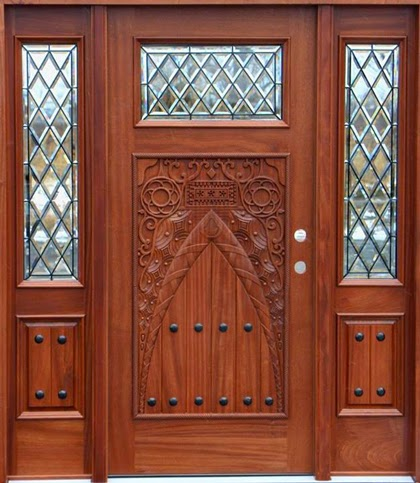 Kerala style wooden sigle main door designs wood design Main door wooden design