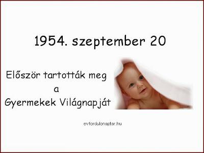 Szeptember 20 - Gyermekek világnapja