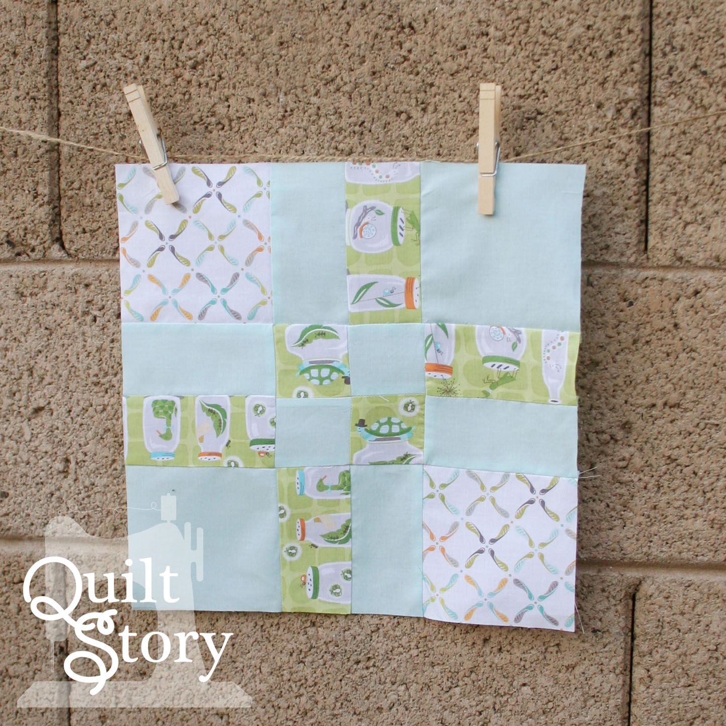 quilt story block of the month january