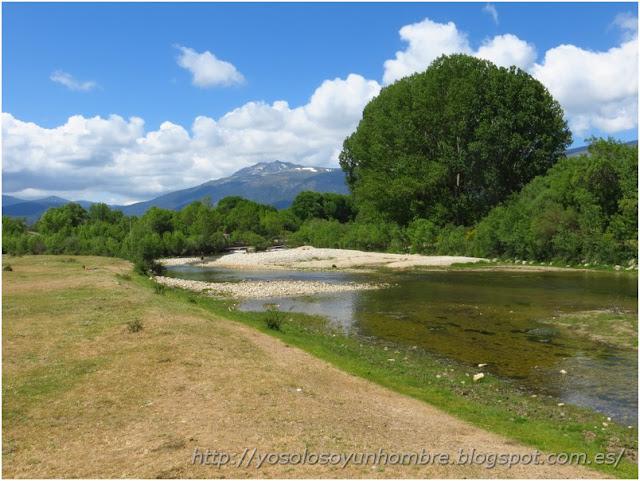 Río Lozoya a la salida de Alameda
