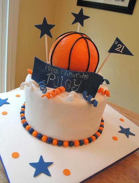 Popular Pinterest Basketball Birthday Cake