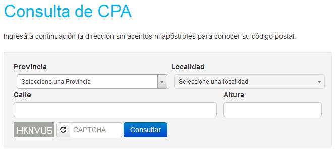 Consulta de CPA