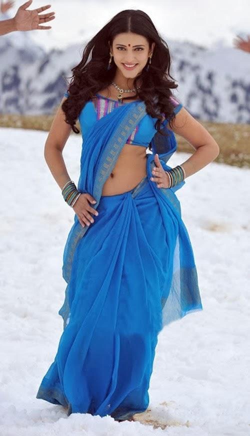 Shruti+Haasan+Saree+Below+Navel+Show+Photo005