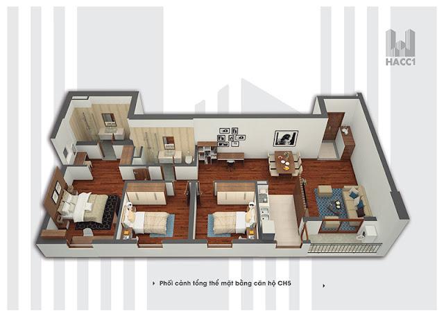 Căn 05 chung cư Time Tower - HACC1 Complex