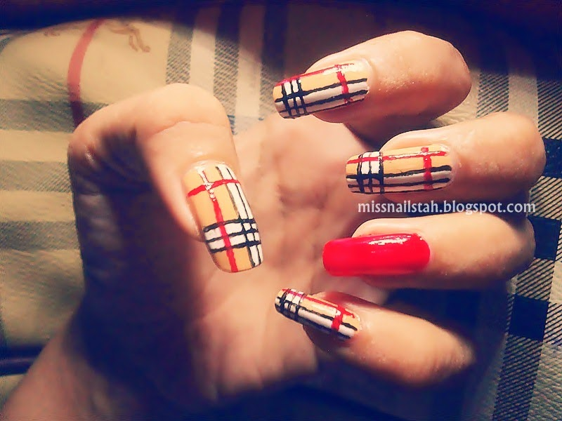 ♥ CC\'s NAILS ♥: My Burberry Nails + Nail Art Tools Review