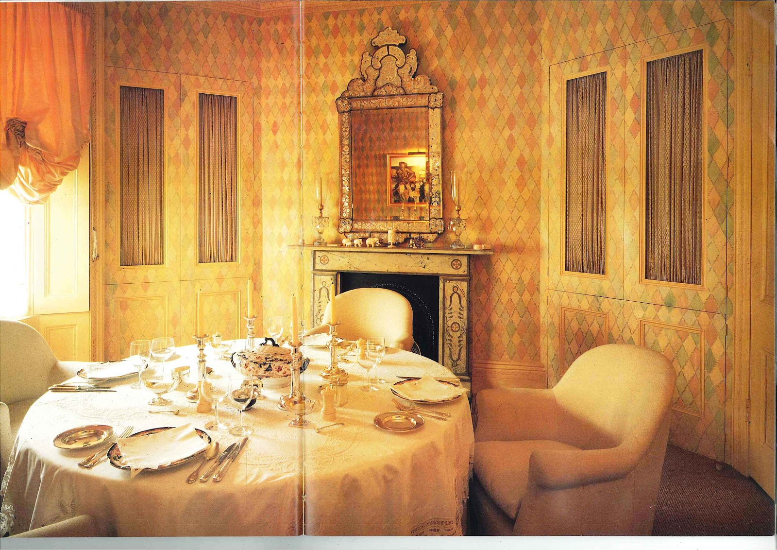 The developed eye design painted rooms by john stefanidis for John stefanidis interior design