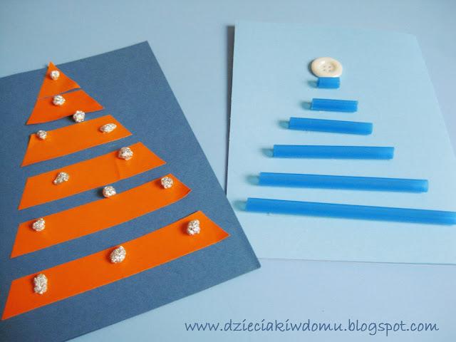 kartki świąteczne do zrobienia dla dzieci