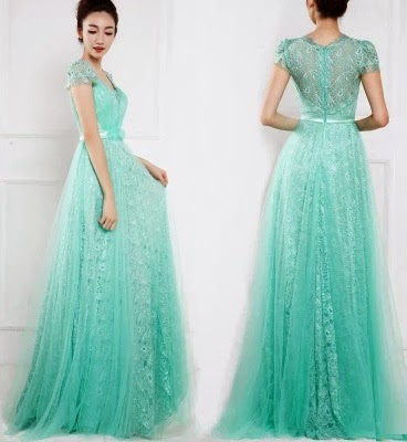 Light Turquoise Tutu Lace Cocktail Evening Dress